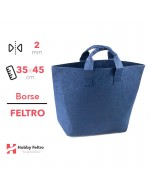 Borse in feltro Shopper Blu 2mm 35x45cm COD.32