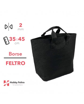 Borsa Shopper in feltro Nero COD.33