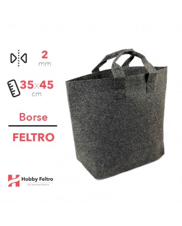 Borsa Shopper in feltro Antracite COD.34