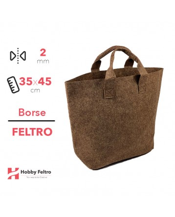 Borsa Shopper in feltro Marrone COD.58