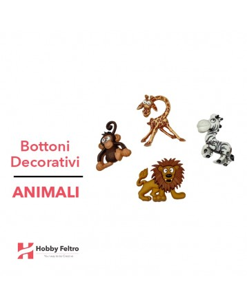 Bottoni Decorativi Animali linea Dress IT UP Fantasia COD.25