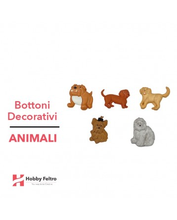 Bottoni Decorativi Animali linea Dress IT UP Fantasia COD.26