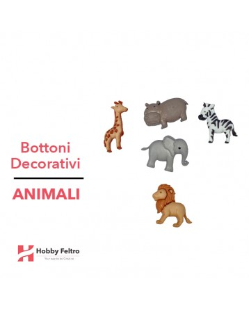 Bottoni Decorativi Animali linea Dress IT UP Fantasia COD.27