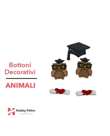 Bottoni Decorativi Animali linea Dress IT UP Fantasia COD.29