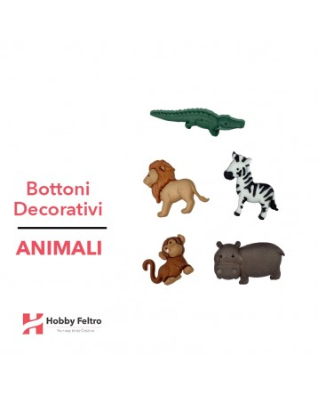 Bottoni Decorativi Animali linea Dress IT UP Fantasia COD.30