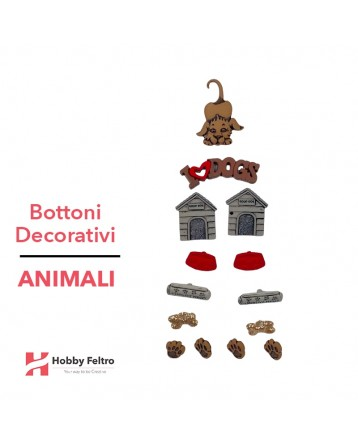 Bottoni Decorativi Animali linea Dress IT UP Fantasia COD.32