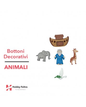 Bottoni Decorativi Animali linea Dress IT UP Fantasia COD.33