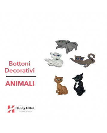 Bottoni Decorativi Animali linea Dress IT UP Fantasia COD.34