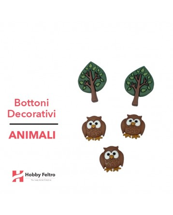 Bottoni Decorativi Animali linea Dress IT UP Fantasia COD.38