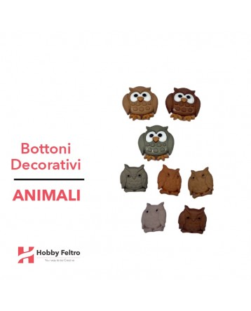 Bottoni Decorativi Animali linea Dress IT UP Fantasia COD.39