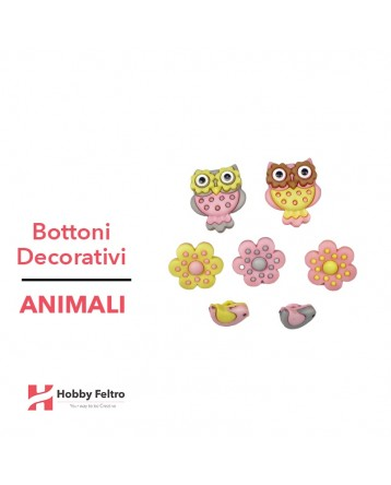 Bottoni Decorativi Animali linea Dress IT UP Fantasia COD.40