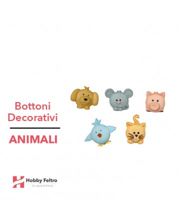 Bottoni Decorativi Animali linea Dress IT UP Fantasia COD.42