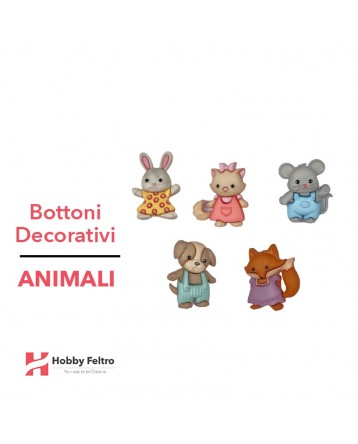 Bottoni Decorativi Animali linea Dress IT UP Fantasia COD.43