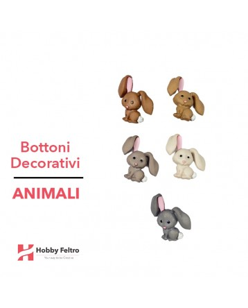 Bottoni Decorativi Animali linea Dress IT UP Fantasia COD.46