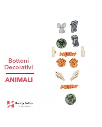 Bottoni Decorativi Animali linea Dress IT UP Fantasia COD.47