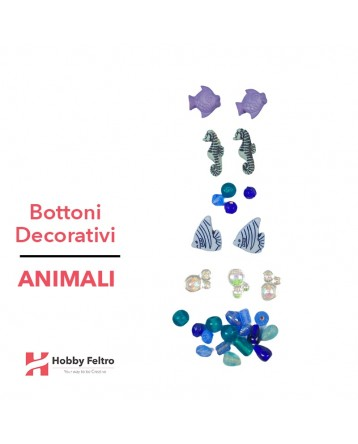 Bottoni Decorativi Animali linea Dress IT UP Fantasia COD.48
