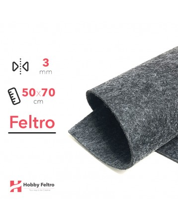 Feltro Antracite 3mm 50x70cm - COD.34