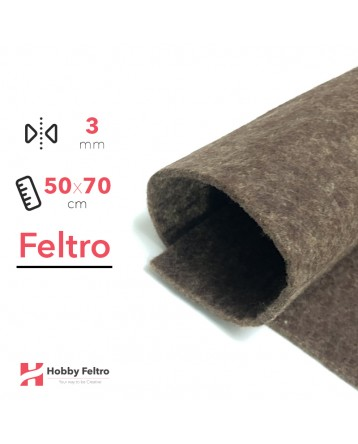 Feltro Marrone Oliva 3mm 50x70cm - COD.58