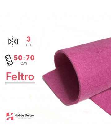 Feltro Rosa Shocking 3mm 50x70cm - COD.06