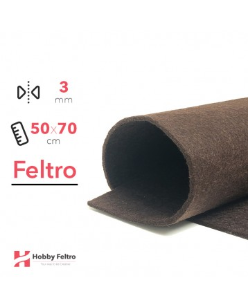 Feltro Marrone Mogano 3mm 50x70cm - COD.37